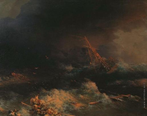 Айвазовский И. К. Крушение корабля «Ингерманланд» в Скагерраке в ночь на 30 августа 1842 года