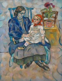 Баранов-Россинэ В. Д. Девочка с куклой