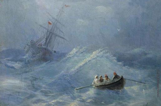 Айвазовский И. К. Крушение корабля в бушующем море