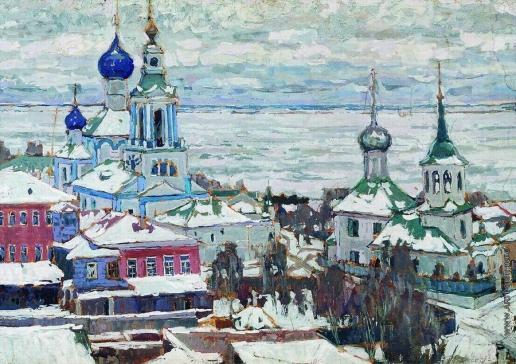 Петровичев П. И. Ростов зимой