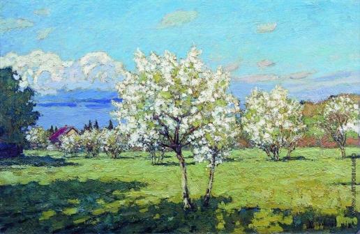 Петровичев П. И. Цветущие вишни