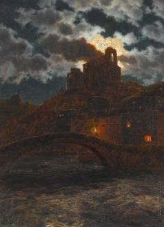 Шультце И. Ф. Сумерки на берегу реки