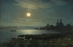 Кондратенко Г. П. Восход луны над озером