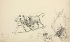 Зичи М. А. Пленение Критского быка. Набросок