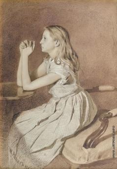 Репин И. Е. Молящаяся девушка