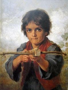 Платонов Х. П. Мальчик, стреляющий из лука