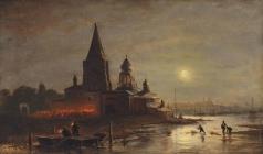 Боголюбов А. П. Ночная процессия в Ярославле
