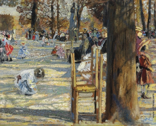 Бродский И. И. Люксембургский сад весной