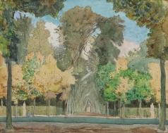 Сомов К. А. Осень в версальском парке