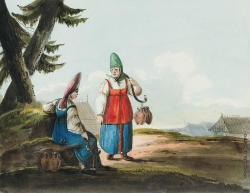 Кольман К. И. Разговор двух женщин
