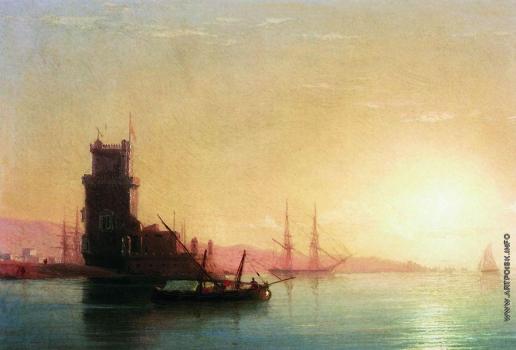 Айвазовский И. К. Лиссабон. Восход солнца