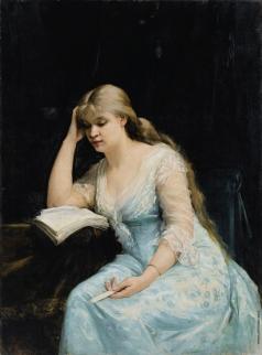 Башкирцева М. К. Портрет юной, читающей девушки