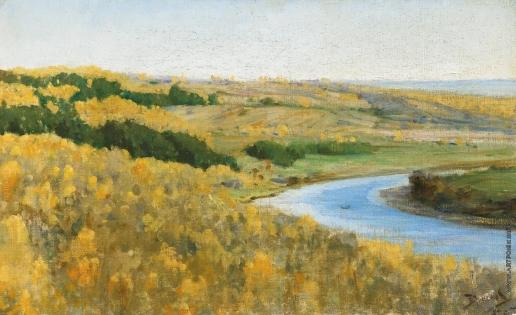 Поленов В. Д. Река Ока золотой осенью