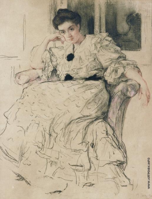 Браз О. Э. Портрет жены художника