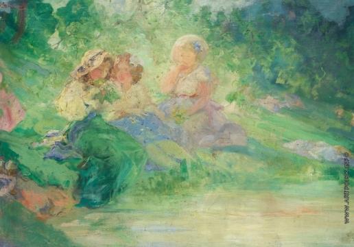 Шмаров П. Д. Три девушки в саду