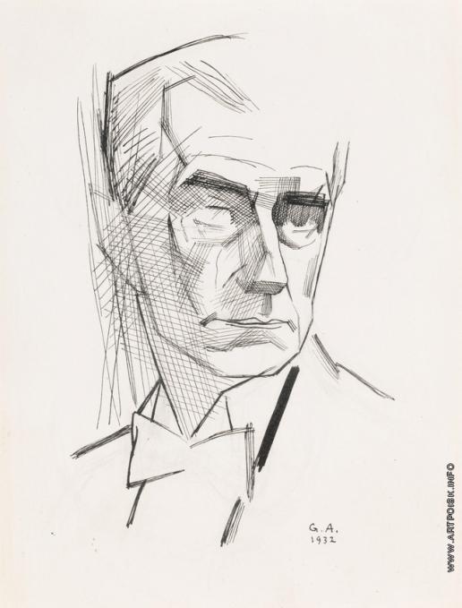Анненков Ю. П. Портрет Мориса Равеля