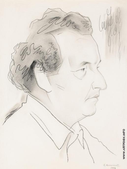 Анненков Ю. П. Портрет Артура Хонеггера