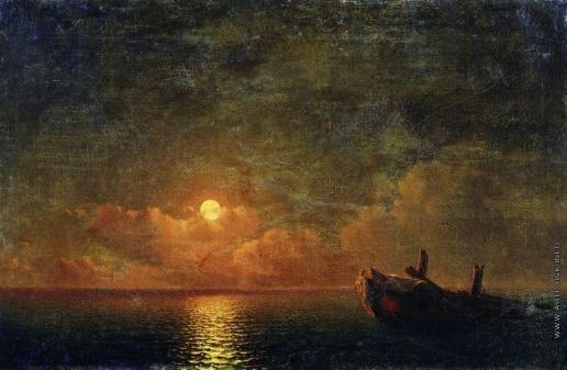 Айвазовский И. К. Лунная ночь (Разбитый корабль)