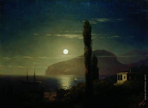 Айвазовский И. К. Лунная ночь в Крыму