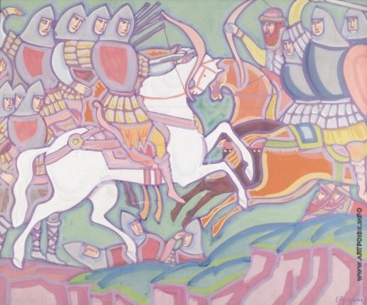 Агафонов Е. А. Средневековые рыцари в бою