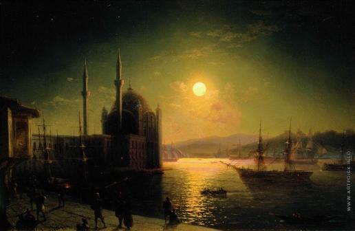 Айвазовский И. К. Лунная ночь на Босфоре