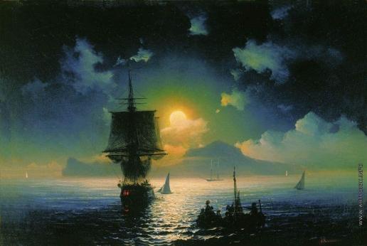 Айвазовский И. К. Лунная ночь на Капри