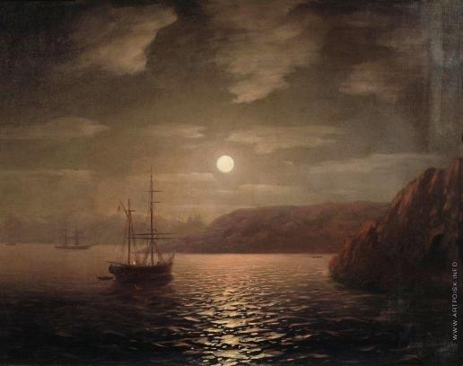 Айвазовский И. К. Лунная ночь на Чёрном море