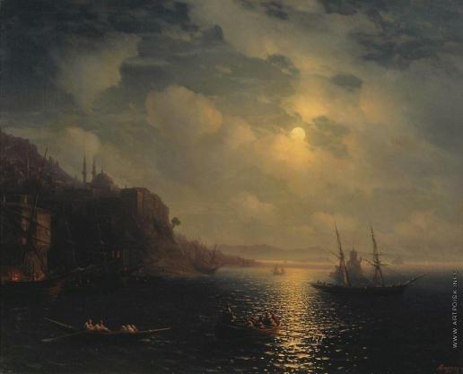 Айвазовский И. К. Лунная ночь на Черном море