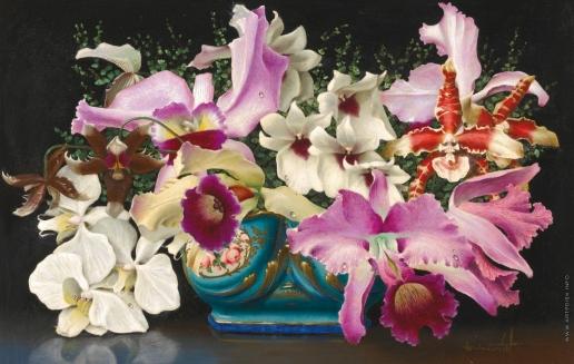 Чистовский Л. С. Натюрморт с орхидеями