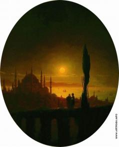 Айвазовский И. К. Лунная ночь у взморья