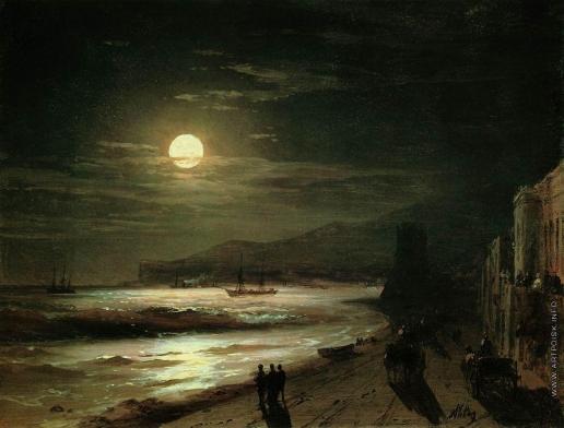 Айвазовский И. К. Лунная ночь. Берег моря