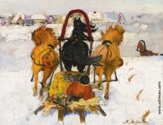 Малявин Ф. А. Тройка в снегу