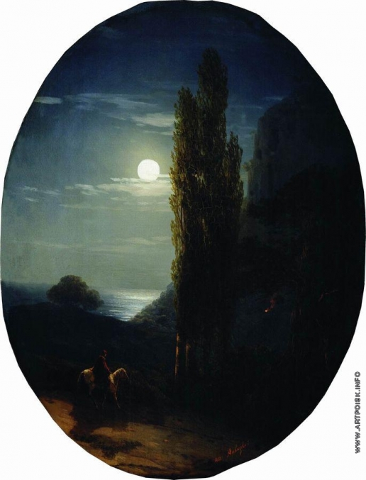 Айвазовский И. К. Лунная ночь. Всадник