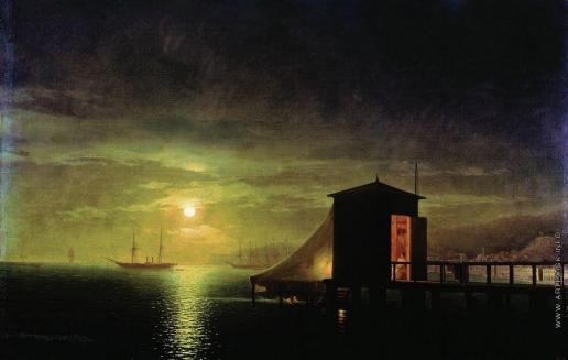Айвазовский И. К. Лунная ночь. Купальня в Феодосии