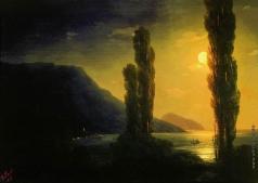 Айвазовский И. К. Лунная ночь. Окрестности Ялты