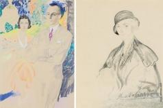 Малявин Ф. А. Два портрета их королевских высочеств Принца Югославии Павла и Принцессы Греции и Дании Ольги