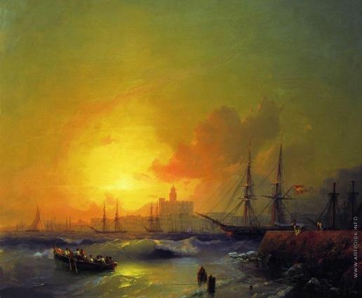 Айвазовский И. К. Малага. Морской пейзаж