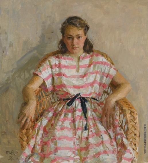 Яблонская Т. Н. Портрет дочери художницы