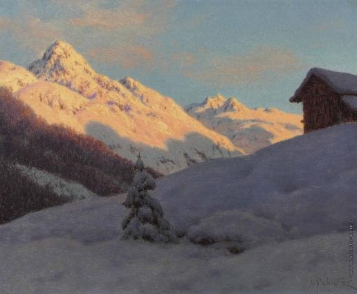 Шультце И. Ф. Вершины в Энгадине