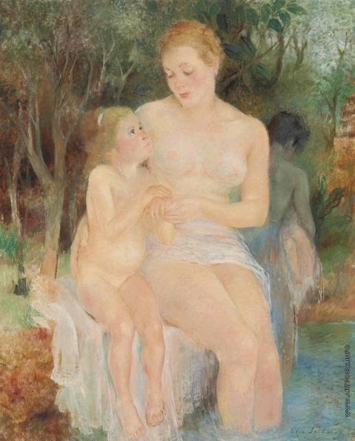 Сахарова О. Н. Мать и дочь. Купание