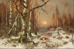 Клевер Ю. Ю. Закат в лесу
