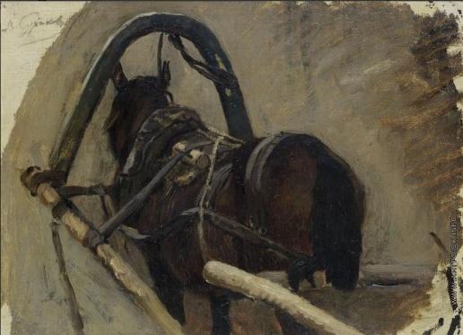 Суриков В. И. Эскиз для картины Боярыня Морозова