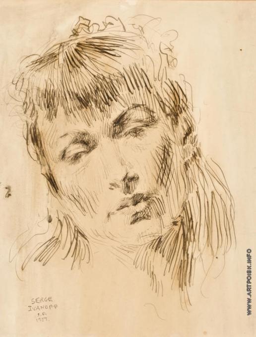 Иванов С. П. Портрет жены художника