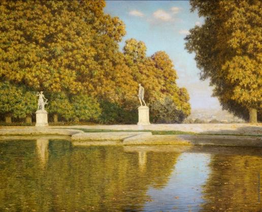 Шультце И. Ф. Осень в парке Сент-Клауда