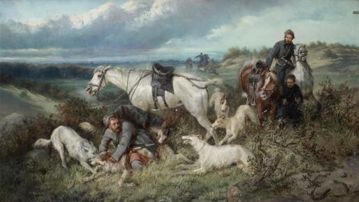 Сверчков Н. Е. Охота на волка