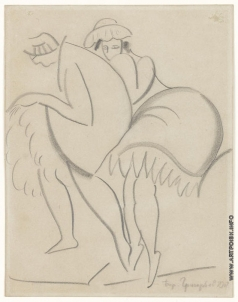 Григорьев Б. Д. Две танцующие дамы в кафе Chantant