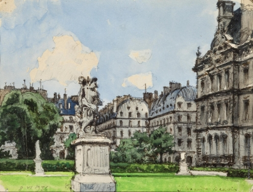 Бенуа А. Н. В парке. Париж