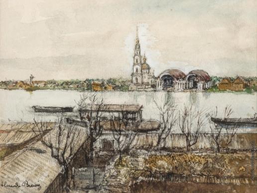 Бенуа А. Н. Вид города с церковью