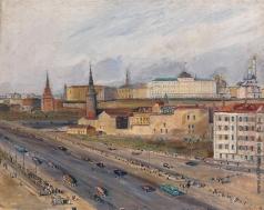 Лабас А. А. Вид на Кремль из окна