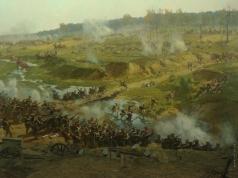 Рубо Ф. А. Бородинская панорама. Бой за Колочу